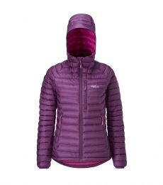 Rab Microlight Alpine Jacket Women's 2017 Berry insulating water-resistant lightweight rock climbing winter alpine mountaineerin