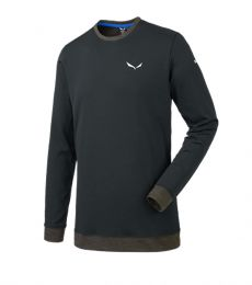 Salewa Sesvenna Polarlite L/S Tee 2017 Blackout rock climbing mountaineering baselayer